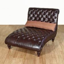 Tufted Leather Chaise Leather Double Chaise Lounge Foter