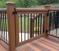 Ideas For Deck Handrail Designs For Extra Security On Your Deck Consider A Safety Gate