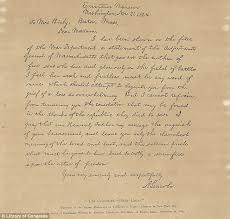 abe lincoln letter from 1864 was written by his secretary daily