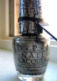 crackle shatter polish opi silver glitter u2013 meghan did it