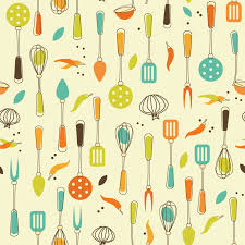 kitchen graceful kitchen utensils background seamless with and