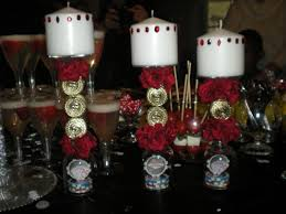 wine birthday candle casino party candles cover candles with playing cards