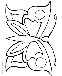printable butterfly template kids coloring