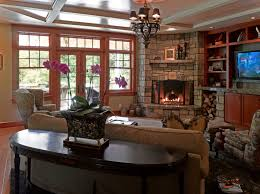 corner fireplace family room photos native home garden design