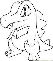 pokemon coloring pages totodile totodile pokemon coloring page free pokémon coloring pages