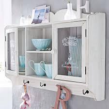 vaisselier mural ancien armoire murale vaisselier en bois blanc 2 portes vitrées fermeture