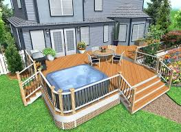 Backyard Deck Design Ideas Backyard Deck Designs Deck Designs Ideas Ideas Tub Deck