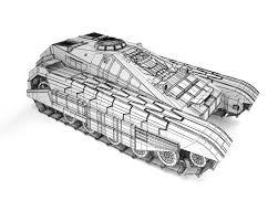 futuristic jeep futuristic fantastic tracked armored jeep 3d model