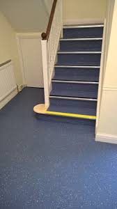 Laminate Floor Stair Nosing Polyflor Polysafe Vinyl Safety Non Slip Flooring Fitted To