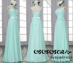 new arrival mint green long bridesmaid dress prom dress chiffon