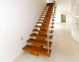 latest timber stairs design l shape steel timber tread stairs l