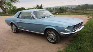 sky blue mustang 1968 ford mustang hardtop in blue