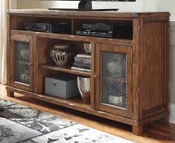 tamonie rustic brown xl tv stand with fireplace option for 648 00
