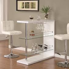 unique rectangular white pub table for small space and leather