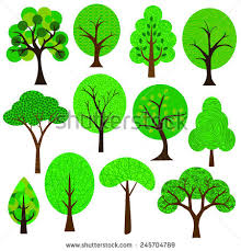 tree clip stock vector 190132094