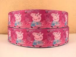 peppa pig ribbon 1 metre new pink peppa pig ribbon size 1 inch bows headbands
