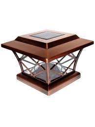 4x4 post cap lights solar post cap lights craftsman 4x4 or 5x5 copper solar post cap
