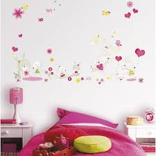 stickers chambre enfant fille sticker miss mousse 47 cm x 67 cm leroy merlin