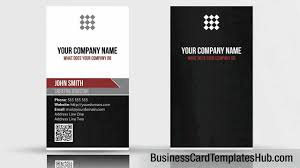 unique vertical qr code business card template youtube
