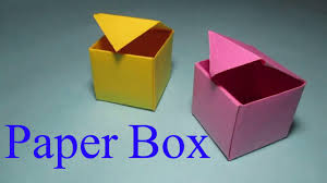 How To Make A Box With Paper - paper box how to make a box from paper that opens and closes