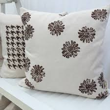houndstooth home decor organic throw pillow cover with houndstooth 18 inch custom