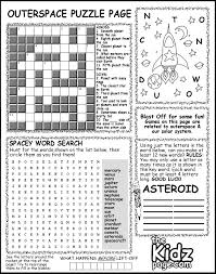 outer space activity puzzle page sheet free coloring pages for