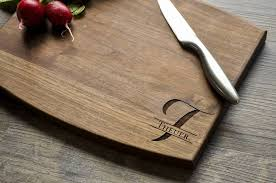 cutting board wedding gift personalized engraved cutting board walnut custom cutting board pers