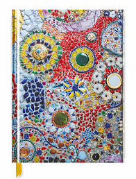 gaudi inspired by mosaic blank sketch book flame tree publishing