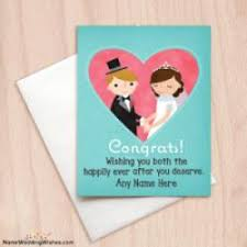 Marriage Cards Messages Best Wishes Congratulations Marriage Card With Name