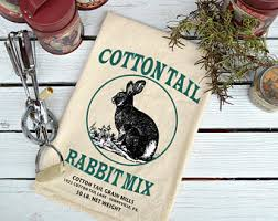 eclectic rabbit ring holder images Rabbit tea towel etsy jpg