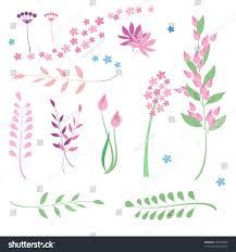 framework design set flowers herbs drawing framework design stock vector 767305828