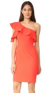 coral dresses for wedding guests one shoulder dresses on trend for summer wedding guests 2017 style