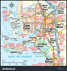 Florida Coast Map Fort Myers Beach Map And Florida Fort Myers Florida Map