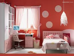 bedroom cute red pink girls room with circles perforated bed bedroom cute red pink girls room with circles perforated bed headboard set and study chair plus study desk with integrated bookcase and wardrobe pink