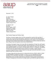 aaup letter page 1 aaup emory