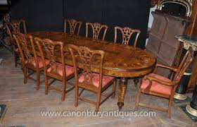 walnut victorian dining table chippendale chair set tables chairs