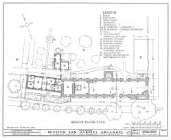 architectural plan architectural drawings california missions resource center