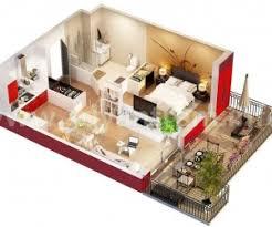 One Bedroom Apartment Design Ideas Prepossessing One Bedroom Apartment Plan About Modern Home