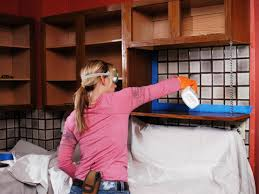 How To Paint Kitchen Cabinets Howtos DIY - Painting kitchen cabinet