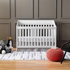 Fixed Side Convertible Crib Buy Urbini Starri 4 In 1 Fixed Side Convertible Crib Warm Gray