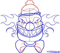 drawn face creepy pencil and in color drawn face creepy
