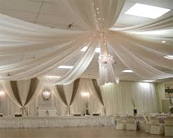 ceiling draping ft 6 panel sheer fabric ceiling draping in assorted colors