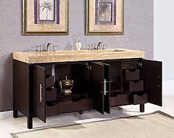 silkroad 72 inch travertine top bathroom vanity travertine
