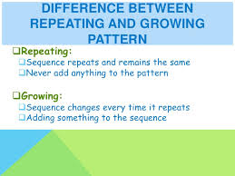 repeating and growing patterns