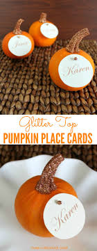 glitter top pumpkin place cards glitter top place card and