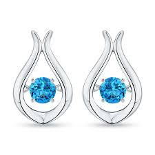 blue topaz earrings swiss blue topaz earrings angara