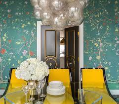 gold dining room wallpaper design ideas
