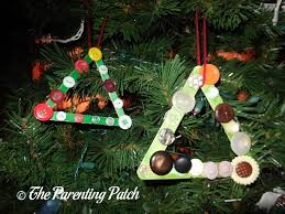 tree popsicle stick ornament craft parenting patch