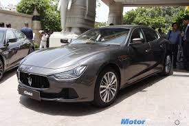 maserati cars maserati officially re enters india with launch of 4 models