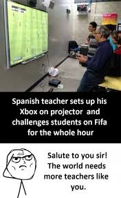 Spanish Teacher Memes - dopl3r com memes spanish teacher sets up his xbox on projector